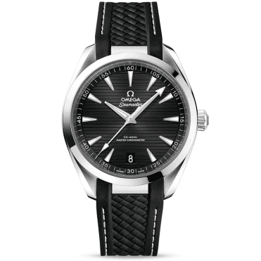 Seamaster Aqua Terra 41mm Black Dial Men's Rubber Strap Watch
