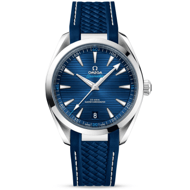 Seamaster Aqua Terra 41mm Blue Dial Men's Rubber Strap Watch