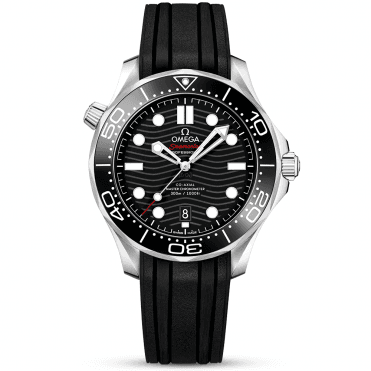 e7d509afde9a Seamaster Diver 300m 42mm Black Dial Men s Rubber Strap Watch