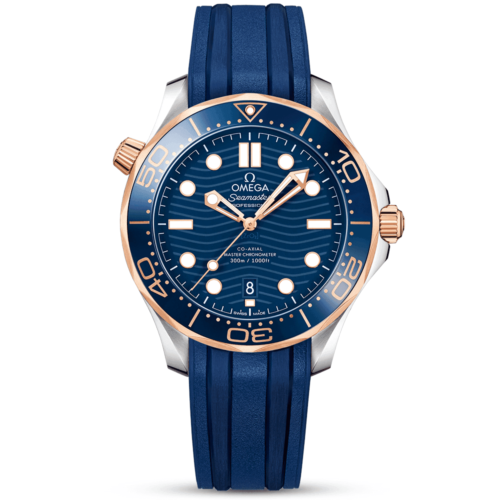 967ac8485949 Omega Seamaster Diver 300m 42mm Blue Dial   18ct Sedna Gold Watch