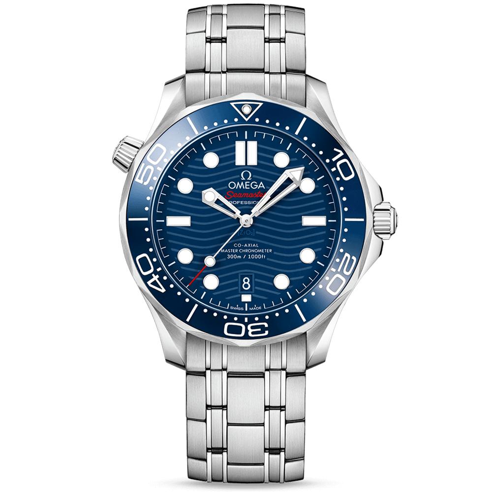 Omega Seamaster Diver 300m 42mm Blue Dial Men s Bracelet Watch 864375b2c3