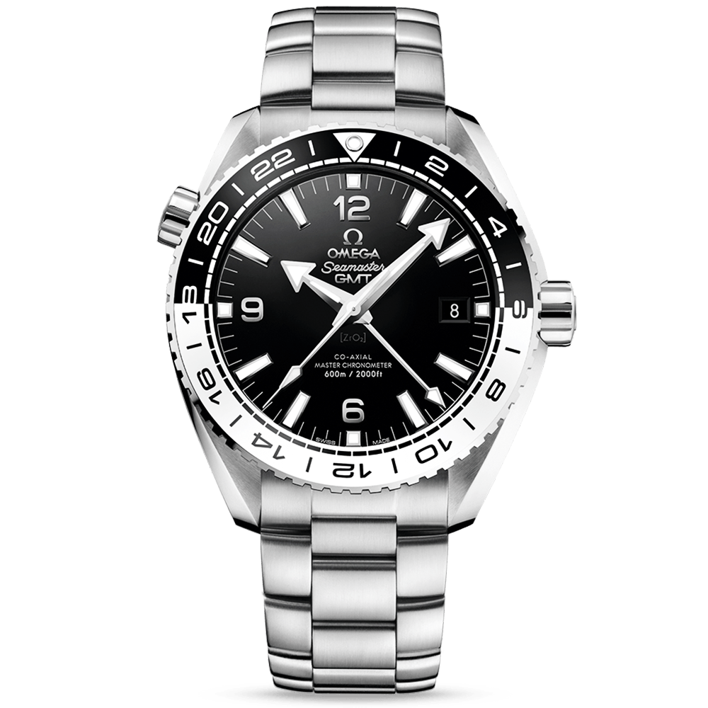 watch steel omega seamaster planet stainless ocean watches dial men black s