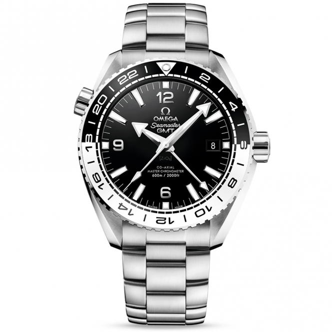 Omega Seamaster Planet Ocean 600m Black/White Bezel Men's GMT Watch