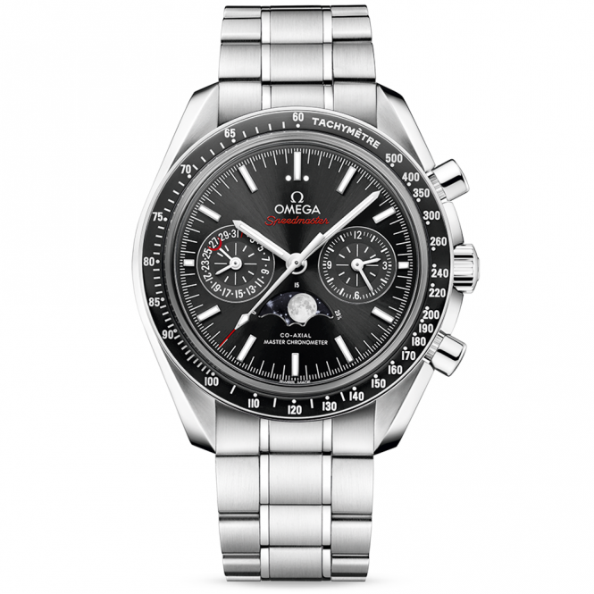 Omega Speedmaster 44.25mm Black Dial Moonphase Chronograph Watch