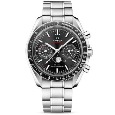 Speedmaster 44.25mm Black Dial Moonphase Chronograph Watch
