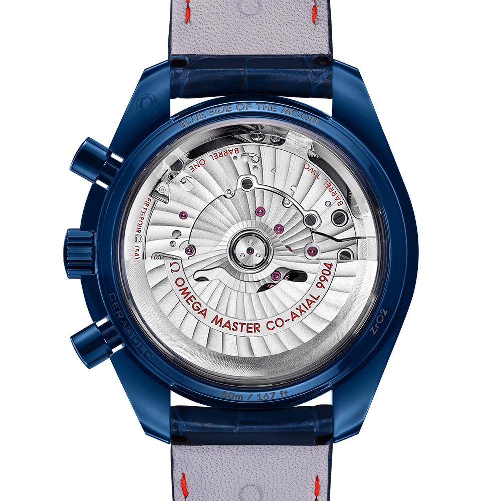 Speedmaster 44 25mm Blue Aventurine Dial Moonphase Chronograph Watch