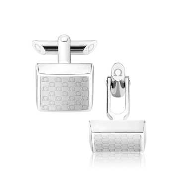 Omegamania Translucent Resin Logo Square Shaped Cufflinks