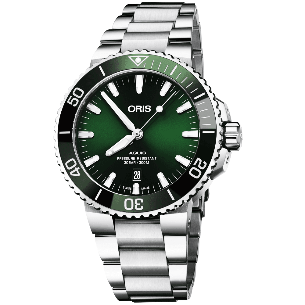 6a490e0ec54 Oris Oris Aquis 43.5mm Green Dial Automatic Men s Bracelet Watch