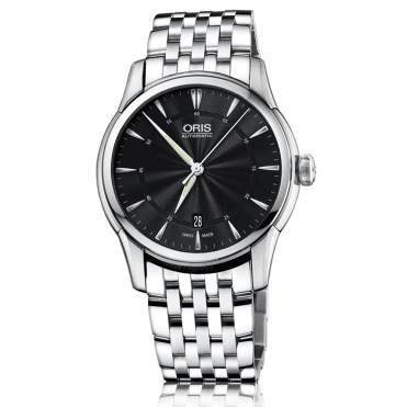Artelier Date 40mm Black Dial Men's Bracelet Watch