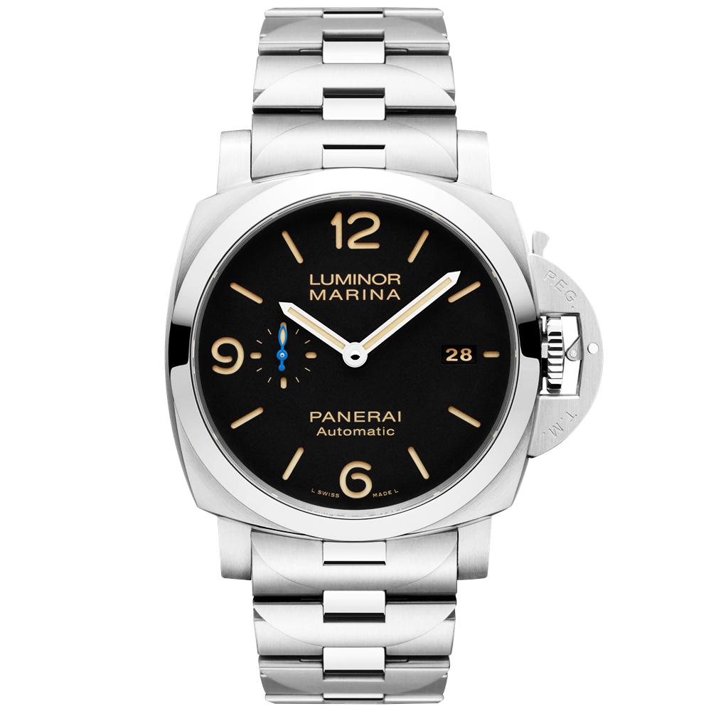 0439ce9e7a0 Officine Panerai Luminor Marina 1950 3 Days Black Dial Bracelet Watch