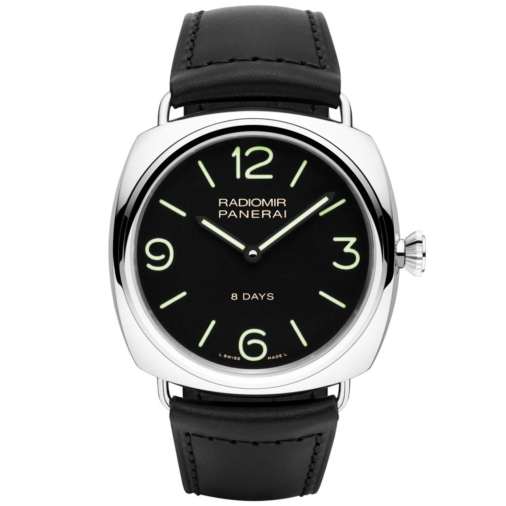 be5431ec20bf Panerai Radiomir Black Seal 8 Days Acciaio Black Dial Strap Watch