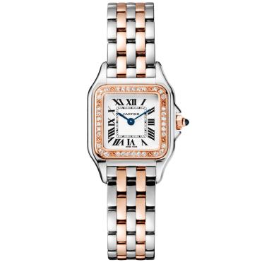 bdaa7d4dd451 Panthère de Cartier Small 18ct Rose Gold   Steel Diamond Bezel Watch