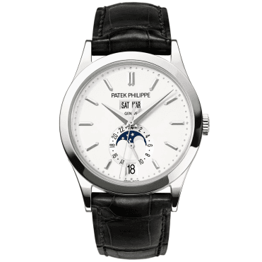 Annual Calendar 38mm 18ct White Gold Men's Strap Watch
