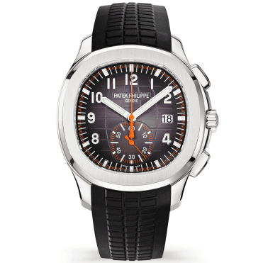 Aquanaut Chronograph 42mm Black & Orange Rubber Strap Watch