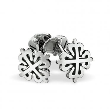 Calatrava 18ct White Gold Cross Cufflinks