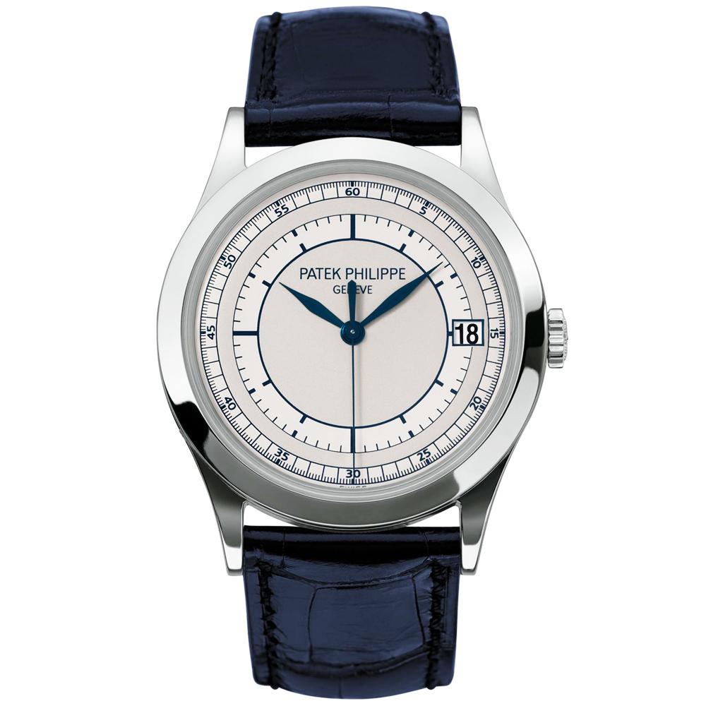 bc07cbe8328 Calatrava 18ct White Gold Silver/Blue Dial Automatic Men's Watch
