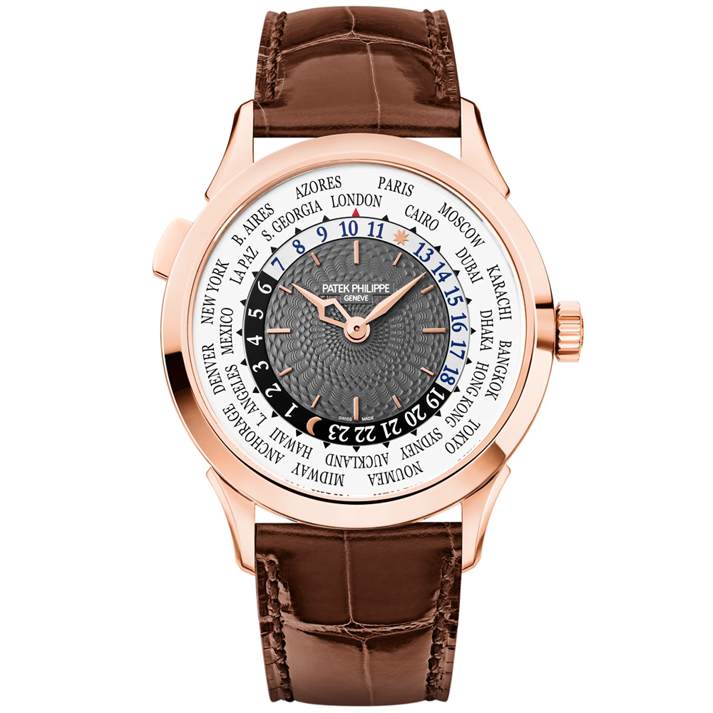 a85d196b0ca Complication World Time 18ct Rose Gold Gray/Silver Dial Men's Strap