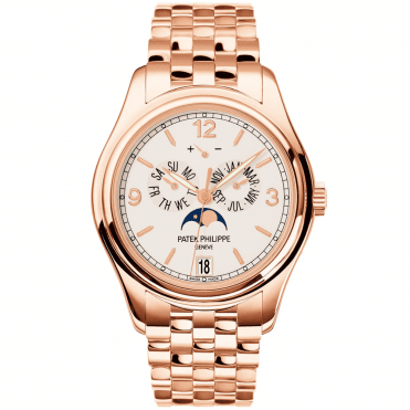 Complications 18ct Rose Gold 39mm Cream Dial Annual Calendar Bracelet Watch