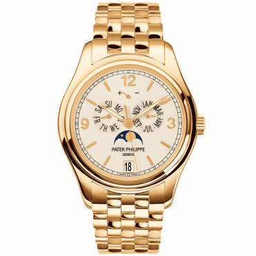Complications 18ct Yellow Gold 39mm Cream Dial Annual Calendar Bracelet Watch