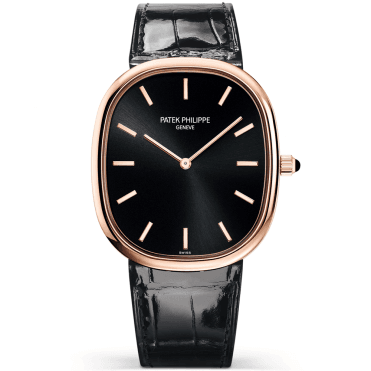 Golden Ellipse 18ct Rose Gold Black Dial Men's Automatic Watch