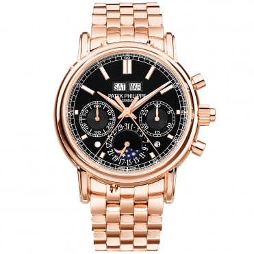 Grand Complications 18ct Rose Gold Manual Wind Men's Bracelet Watch