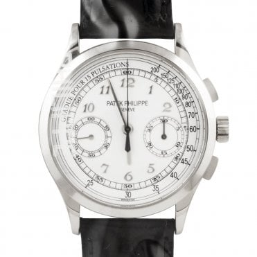 Complications 18ct White Gold Opaline Silver Dial Chronograph Watch