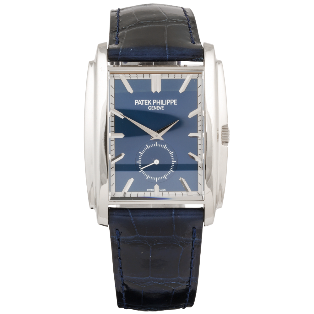 Pre Owned Patek Philippe Gondolo 18ct White Gold Blue Dial