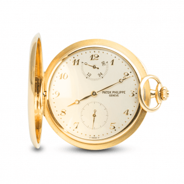 Hunter-Case 48mm Manual Wind 18ct Yellow Gold Pocket Watch