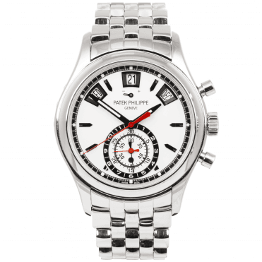 Patek Philippe Complication Annual Calendar Chronograph Steel White Dial Men's Bracelet Watch