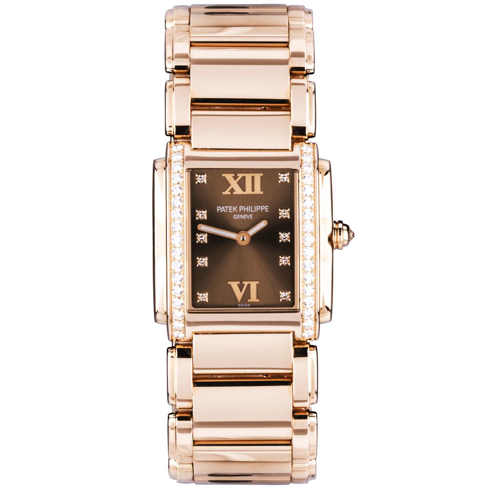 1a577ed99b4 Patek Philippe (Pre-Owned) Patek Philippe (Pre-Owned) Twenty-4 18ct Rose  Gold   Chocolate Dream Dial Ladies Bracelet Watch