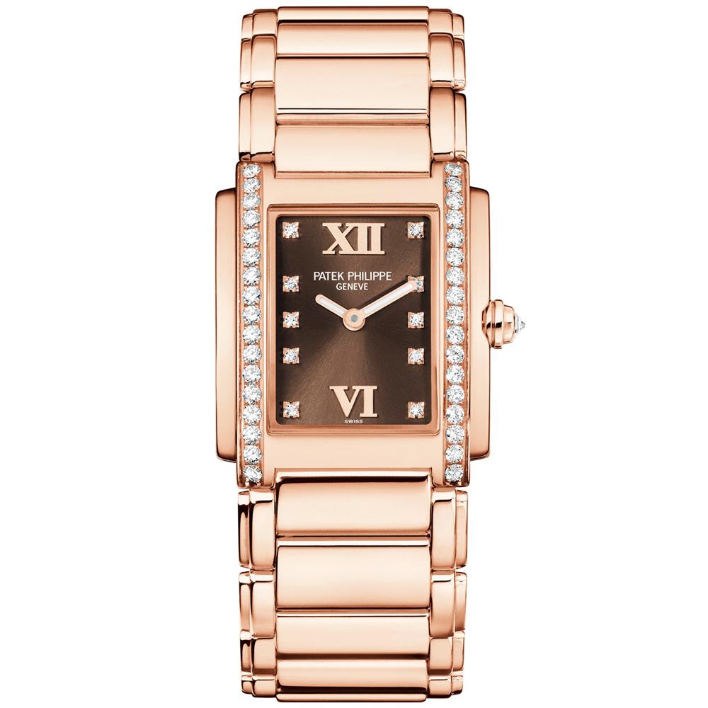 c4ee06ce692 Twenty-4 18ct Rose Gold  amp  Chocolate Dream Dial Ladies Bracelet Watch