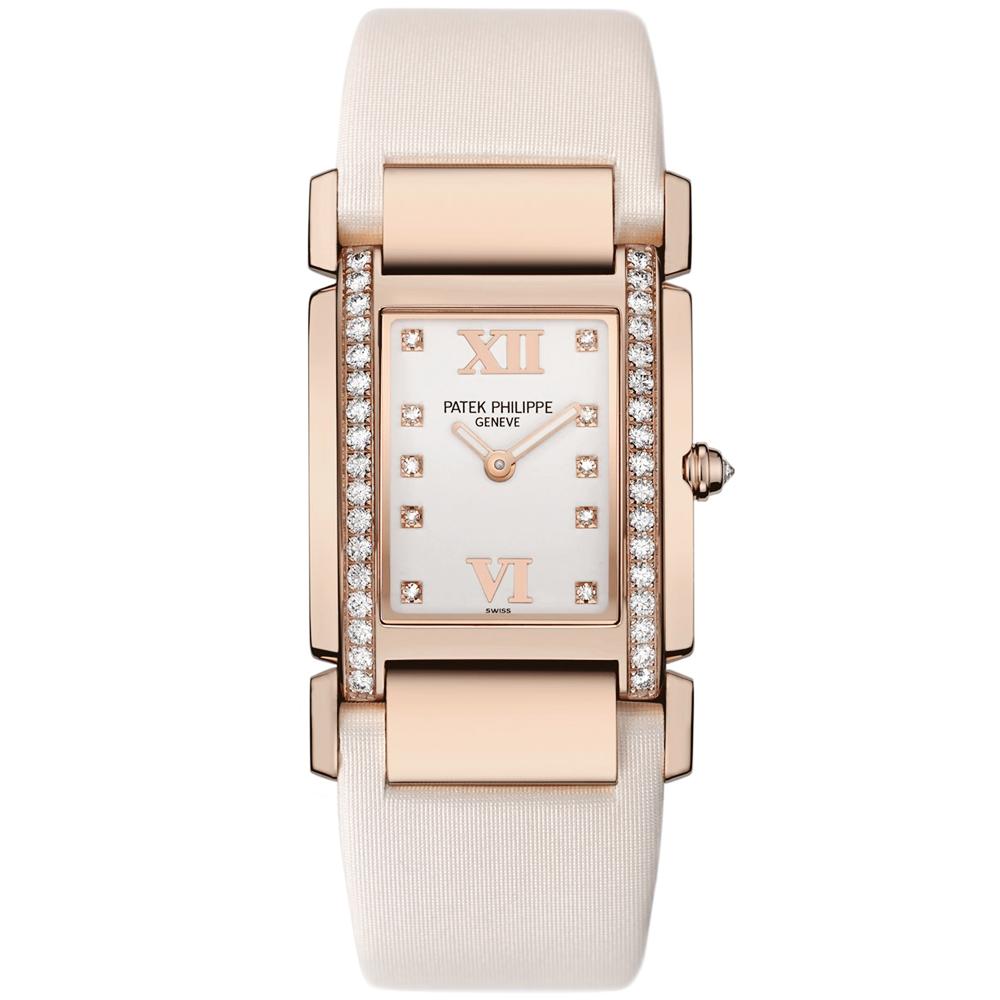 533c3f38ebc Twenty-4 18ct Rose Gold  amp  Timeless White Dial Ladies Satin Strap Watch