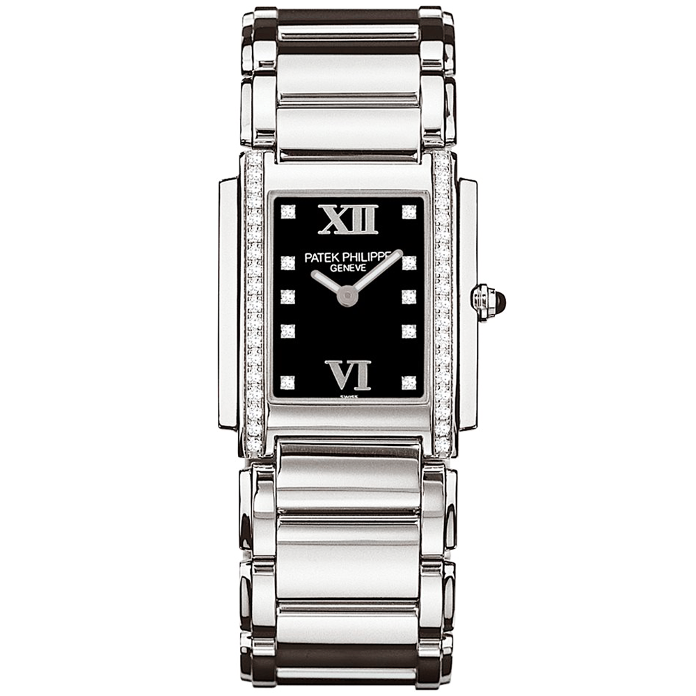 a59439c4232 Patek Philippe Twenty-4 Steel Case Black Dial Ladies Watch