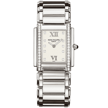 Twenty-4 Steel Case White Dial Ladies Watch