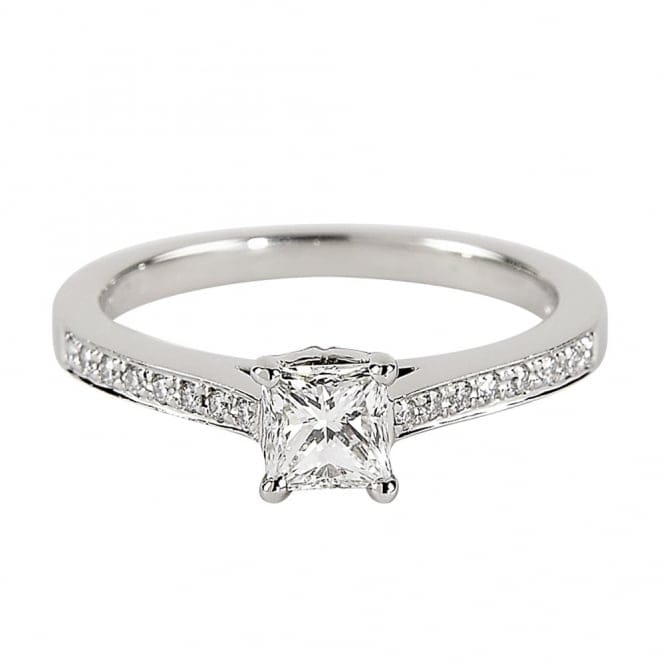 Platinum Solitaire Princess Cut Diamond Engagement Ring C5261 From Berry