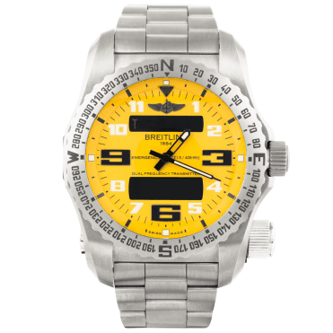 Breitling Emergency II Cobra Yellow Dial Bracelet Watch