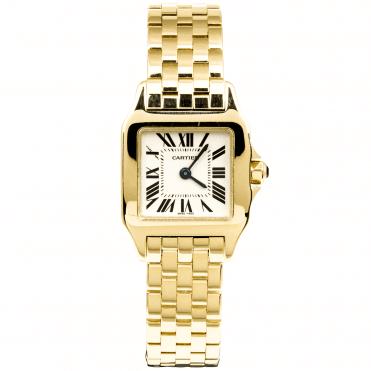 Cartier Santos Demoiselle 26mm 18ct Yellow Gold Ladies Bracelet Watch