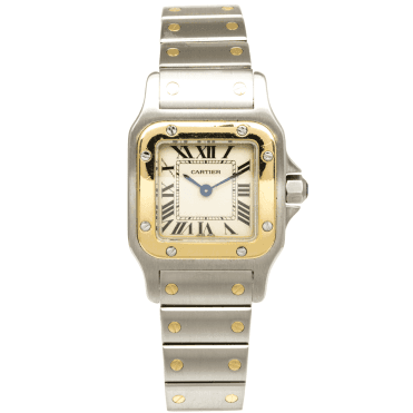 Cartier Santos Galbee Small Steel & 18ct Yellow Gold Bracelet Watch