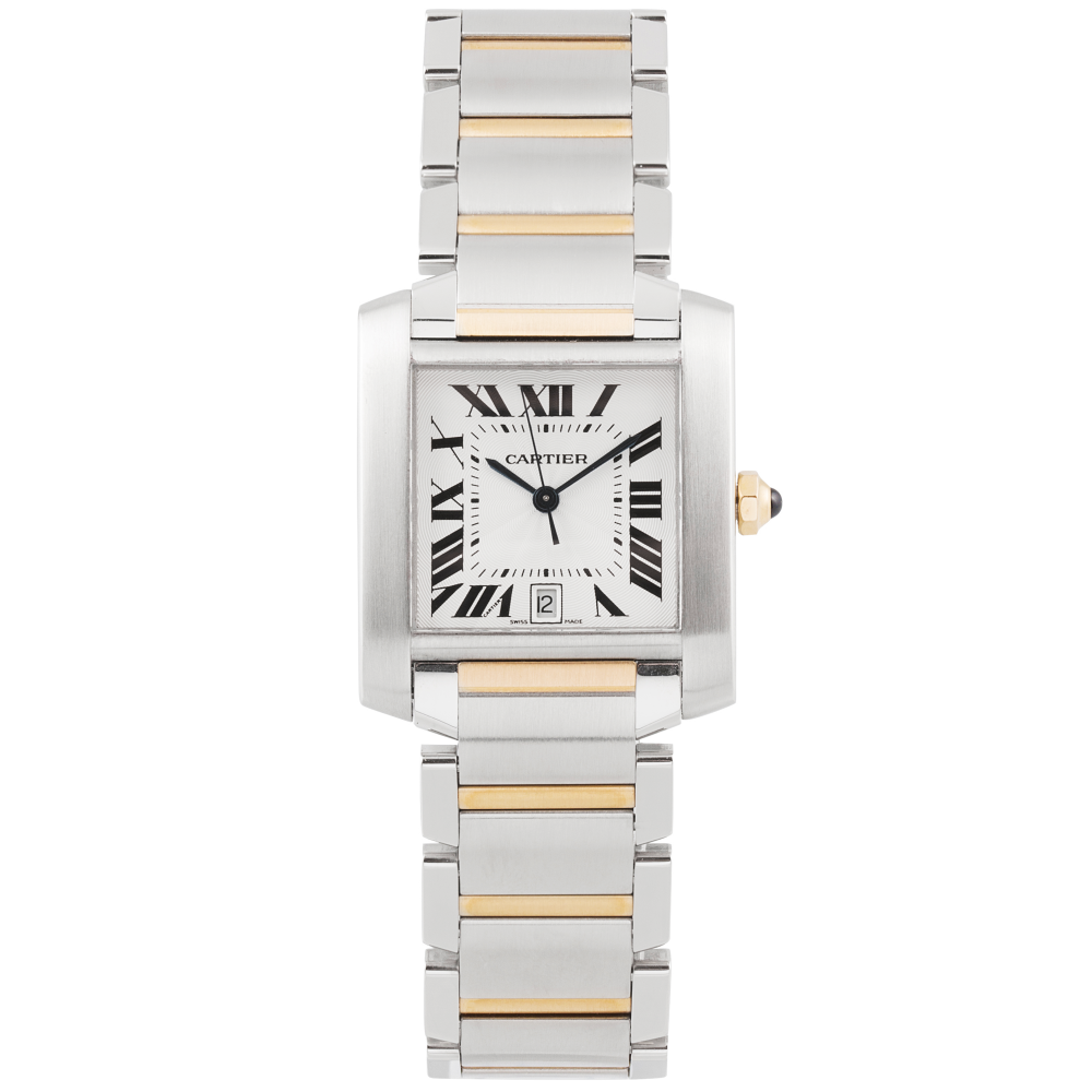 Pre Owned Cartier Tank Francaise Two Tone Amp Silver Dial