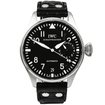 IWC Big Pilot's 7 Day Power Reserve Black Dial Men's Strap Watch