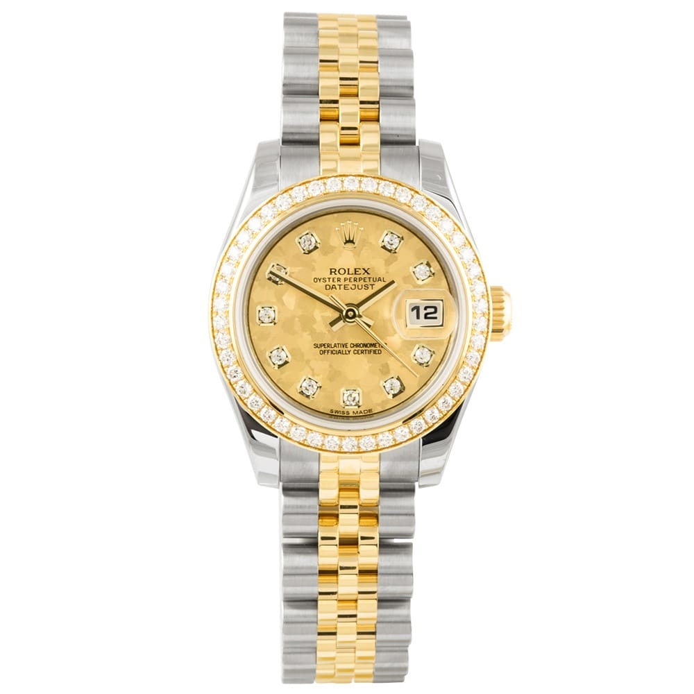 pre owned rolex datejust steel yellow gold