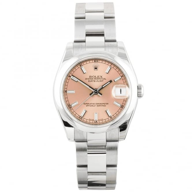 bddccc3e0dd PO1782400028 1782400028. pre owned unused rolex lady 31 datejust steel pink  dial ...
