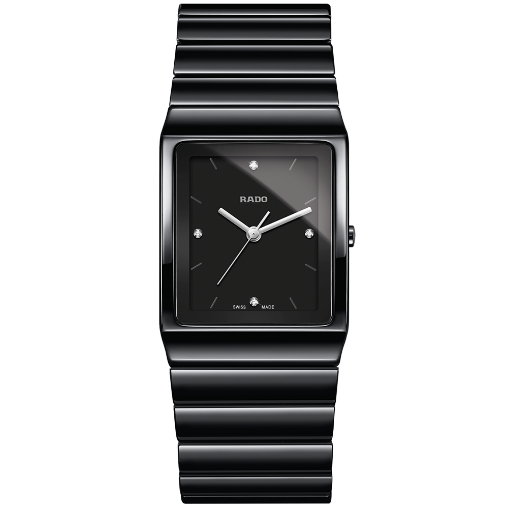 38f10c07a28 Rado Rado Ceramica Medium Black High-Tech Ceramic Bracelet Watch. Code   R21700702
