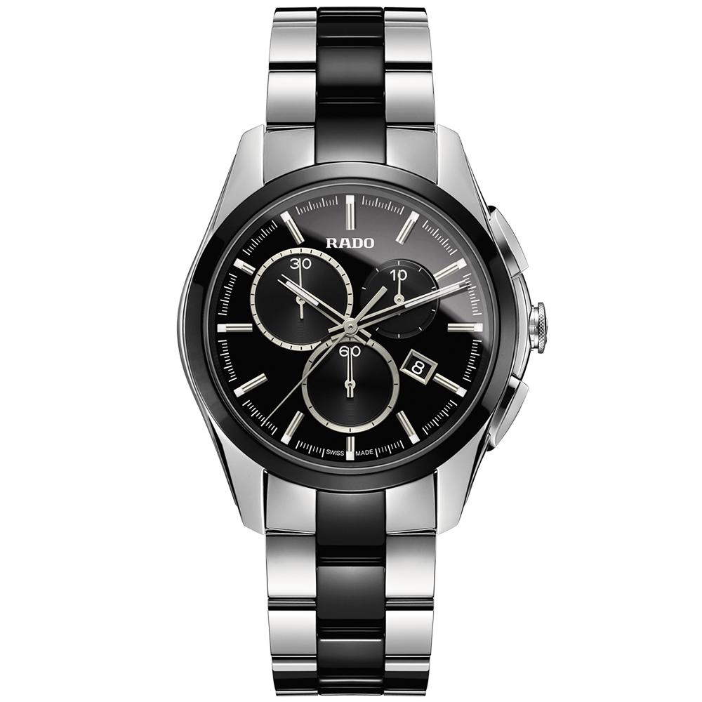Rado hyperchrome chronograph black ceramic men 39 s bracelet watch for Ceramic man watch