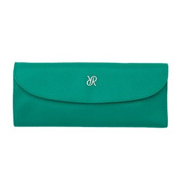 Green Leather & Suede Luxury Jewellery Roll