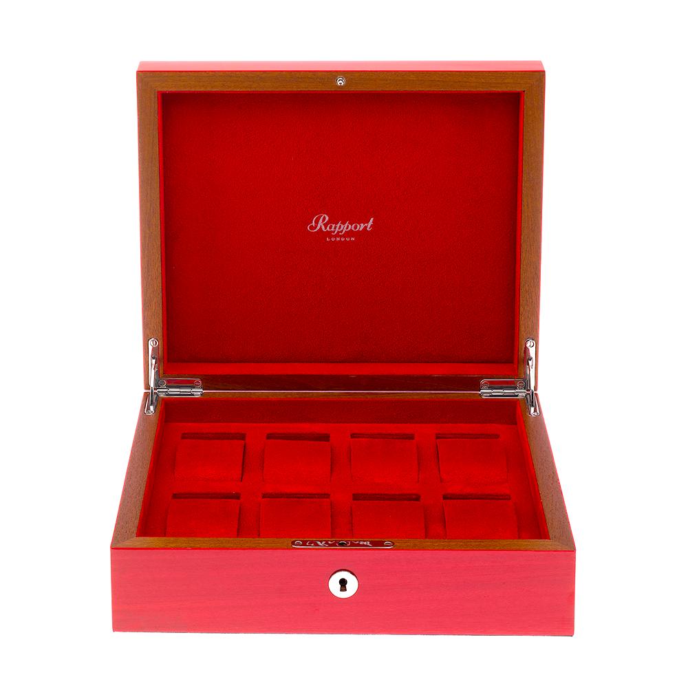 Heritage Crimson Red Eight-Watch Storage Box  sc 1 st  Berryu0027s Jewellers & Rapport Heritage Crimson Red Eight-Watch Storage Box L421