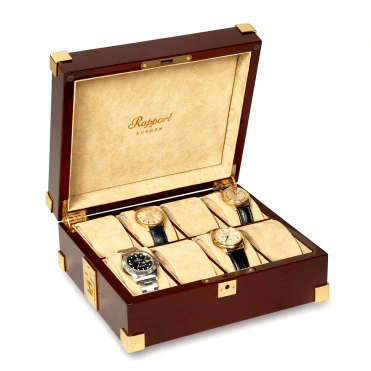 Polished Mahogany & Beige Interior Watch Collectors Box