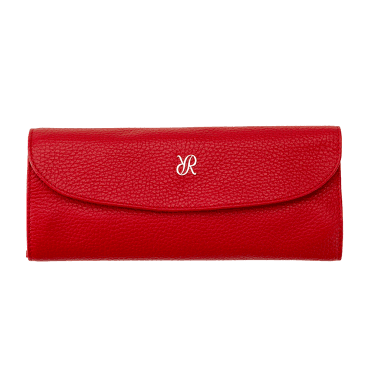 Red Leather & Suede Luxury Jewellery Roll