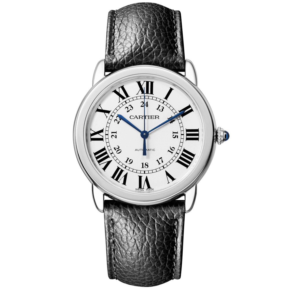 Cartier Ronde Solo 36mm Silver Roman Dial Automatic Strap Watch 80f048a7fe7