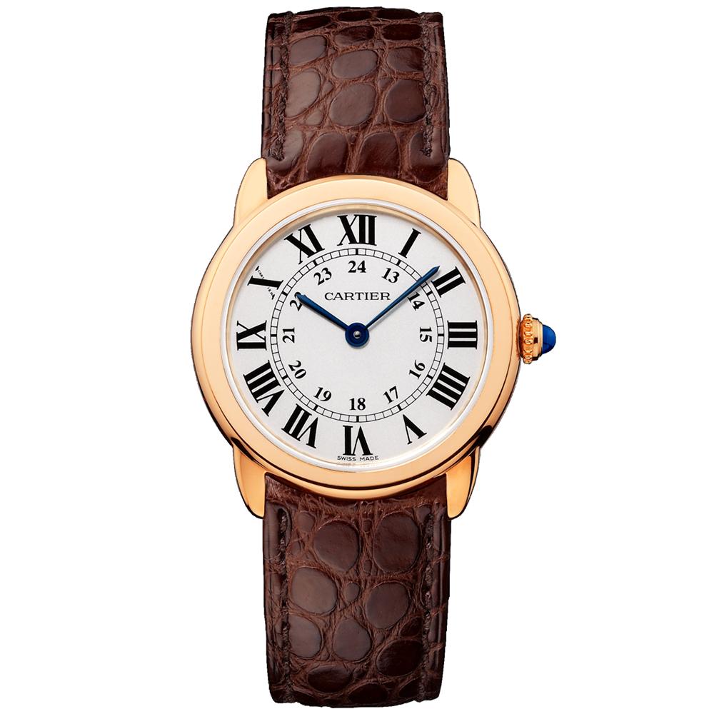 a58e7a823b7 Cartier Cartier Ronde Solo de Cartier Small 18ct Pink Gold Strap Watch